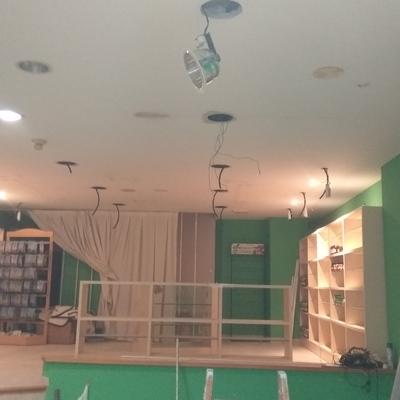 Instalación de nueva iluminación.