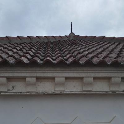 Formación de tejados y remates.