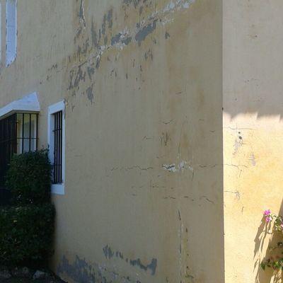 saneamiento de la pared