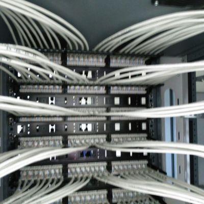 Mazeado y  conexionado patchpanel parte de atras de Rack 52U