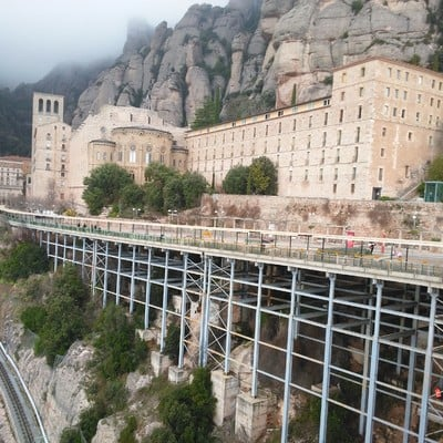 Parking Monasterio de Montserrat.