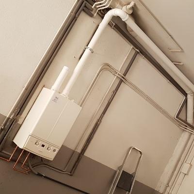 Substitución de caldera mural a gas de condensación