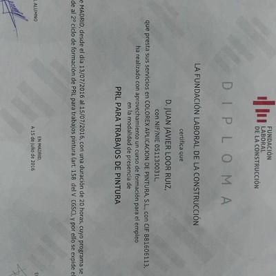 Diploma Laboral de la  construción.