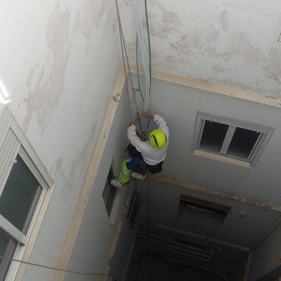 Apoyo vertical para preinstalacion de aires acondicionado