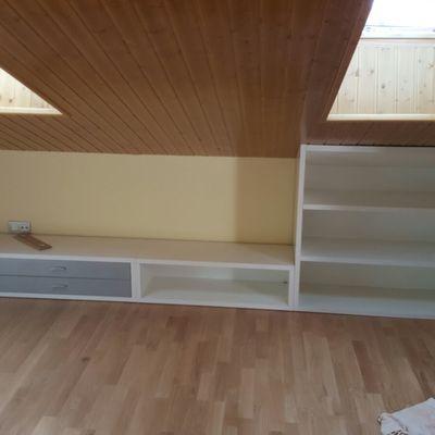 mueble ático medida especial con cajones