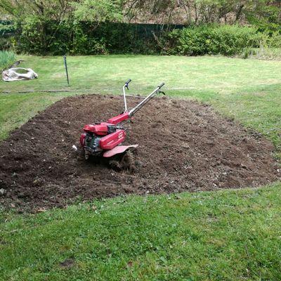 Preparando el terreno para la Huerta