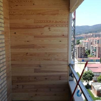 Colocación de madera