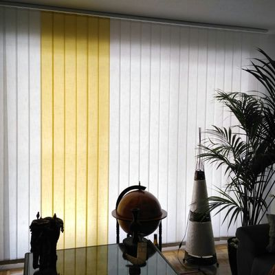 Cortina Vertical tejido Shantung con combinación de colores