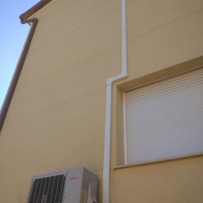 Canalización instalación frigorífica vista.