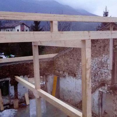 Estructura de madera.. Caserío zegama