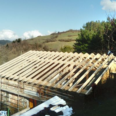 Tejado madera  zegama gipuzkoa