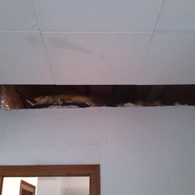 Reparacion de placas techo vivienda