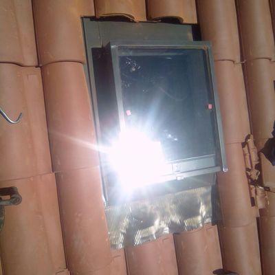 Montaje de ventana velux  en el tejado