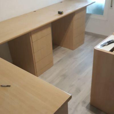 mesa escritorio medida especial habitación--cajoneras y encierra