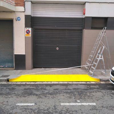 Pintura puerta parking