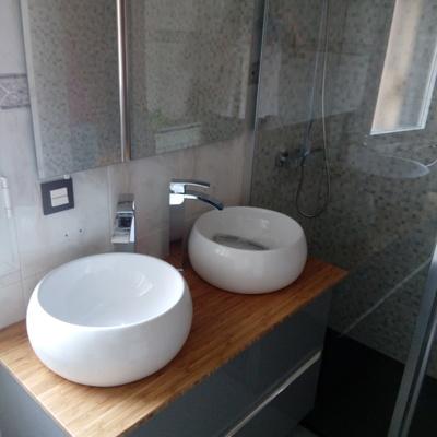 Mueble de lavabo con doble seno