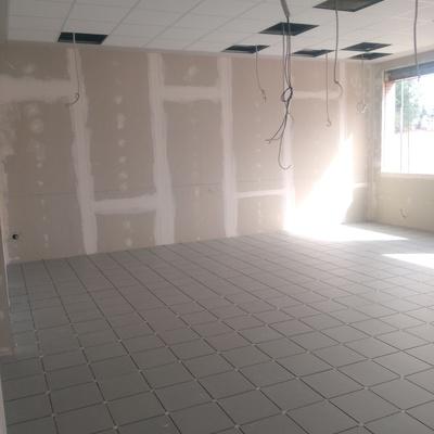 Solado, pladur, techo registrable