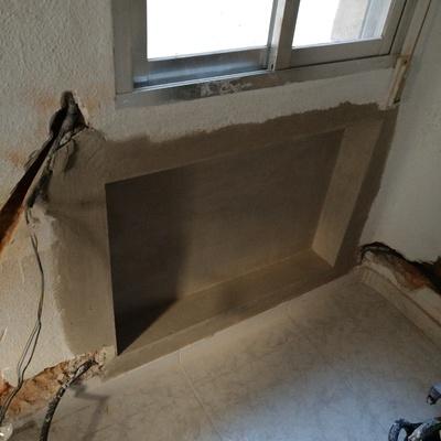 Radiador empotrado en la pared