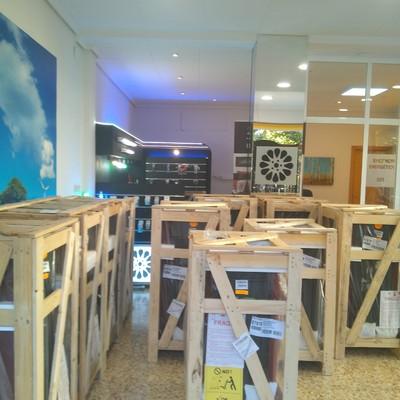Estufas de pellet NÓRDICA EXTRAFLAME en tienda AFOR (principio de temporada).