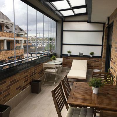 Instalación de Cortinas de Cristal y Techo Móvil en una Terraza de un Cliente Particular