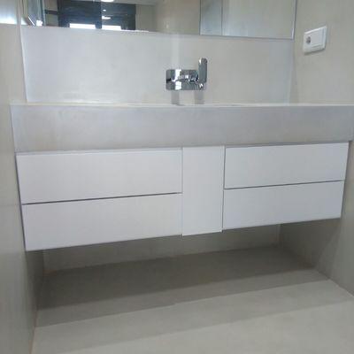 Mueble de baño bajo encimera Lacado en Blanco