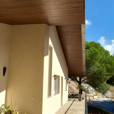 Terraza-porche al sur