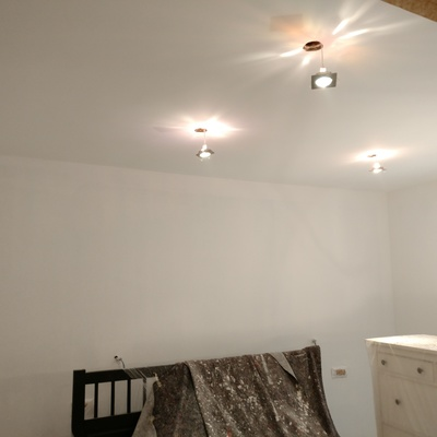 Habitación aguaplast pintar liso