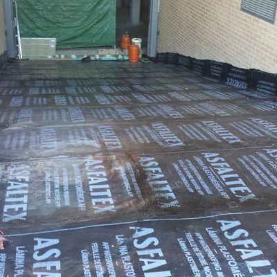 Impermeabilización  con tela asfáltica Rampa de garaje Montecarmelo Madrid