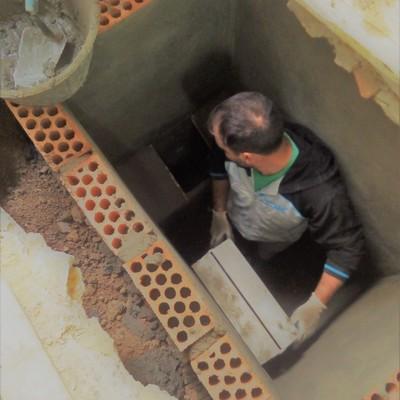 construcción de arqueta
