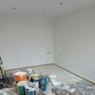 Prepración paredes proyecto llave en mano