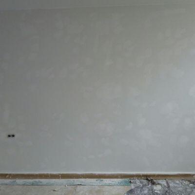 Detalle enmasillado paredes dormitorios