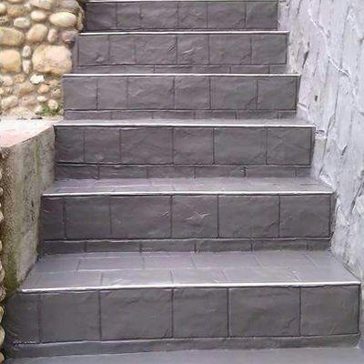 Escalera de pavimiento impreso