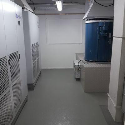 Sala de máquinas con Free cooling y 2 evaporadores Westric