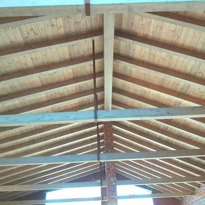 techo de madera vista