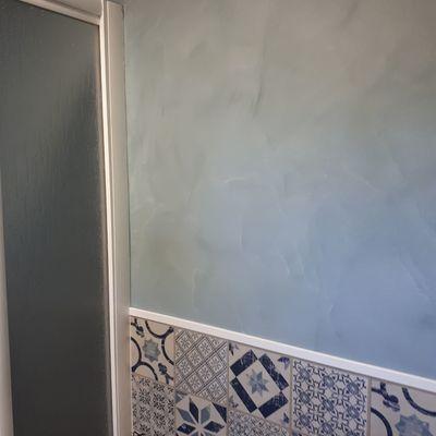 pintura en baño