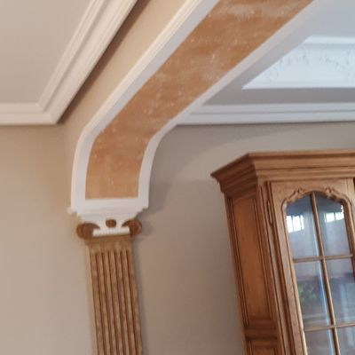 arco de escayola pintado con pintura decorativa
