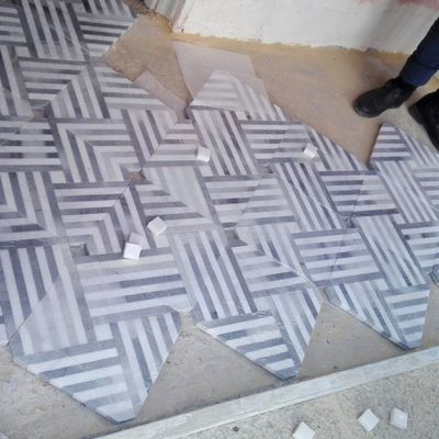 Diseño de solado de marmol.