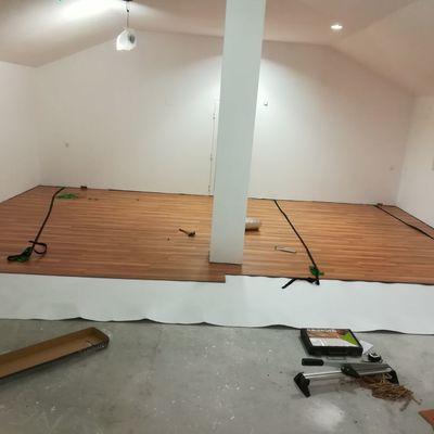 suelos, alumbrado, pladur y pintura