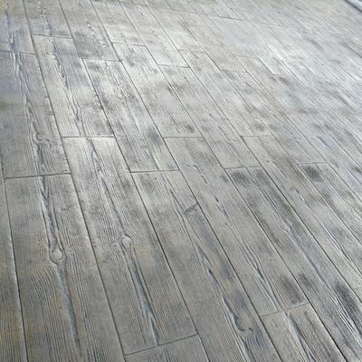 Hormigón impreso madera color 107 con desmoldeante 103
