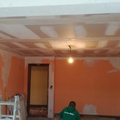 techo salon listo para pintar