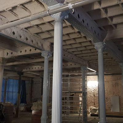 Protección de los pilares con pintura