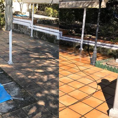 limpieza de patios