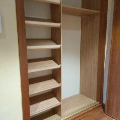Interior de armario con zapatero