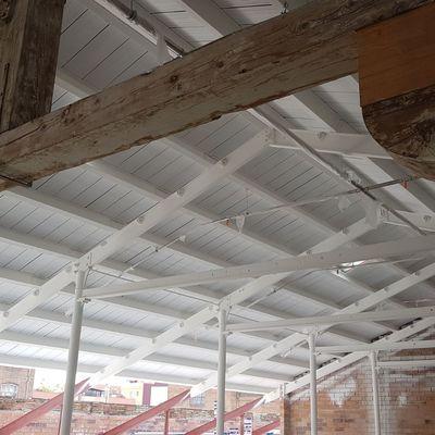 Protección de la estructura metálica con pintura