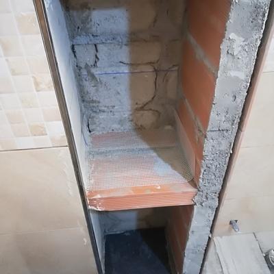 Reforma cuarto de baño con plato ducha de obra