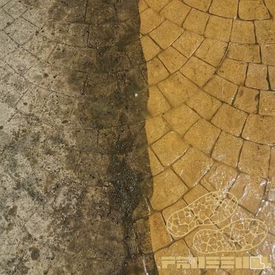 Prossoll, antes y después de limpieza y protección