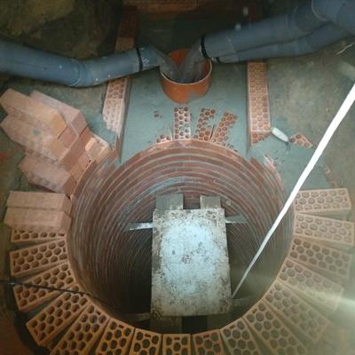Pozo de arranque de 10'22 m y arqueta de trasdos nueva construcción