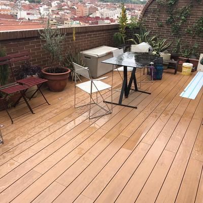 Suelo tecnico en terraza