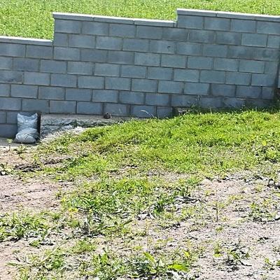 Muro de bloque cierre finca