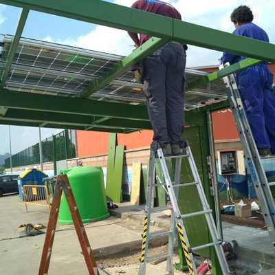 instalacion pérgola solar